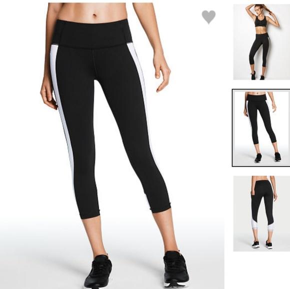 71a0263902 Victoria's Secret Pants | Vsx Silver Shimmer Capri Pocket Knockout ...